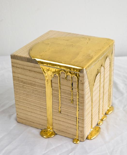 "Nancy Lorenz, "" Gold Pour Box"""