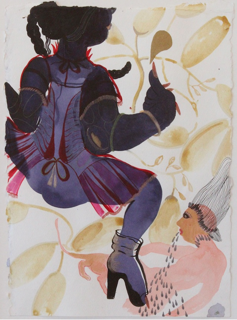 """Her jama would jingle as she stamped on her earth..."" by Rina Banerjee 