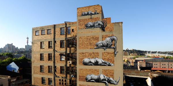 """I art Joburg"" by Roa"