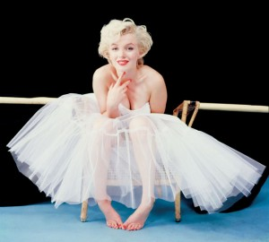Milton H. Greene, Marilyn 'ballerina' sitting in a tutu, 1954.
