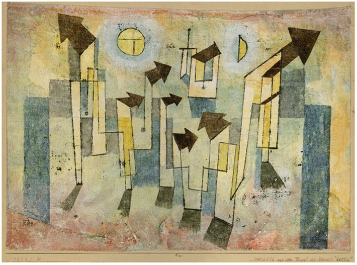 """Wall Painting from the Temple of Longing"" by Paul Klee"